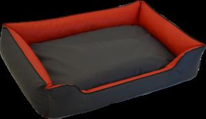 Hundebett wendebett Twixy rot/grau