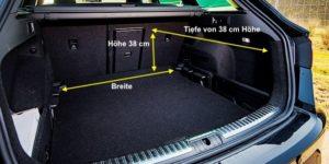 Kofferraumabmessungen